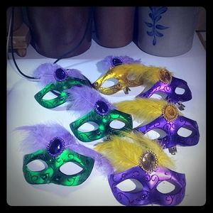 Other - 7 Mardi Gras Decorative Mask Clips